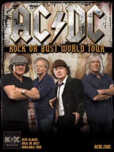 ACDC Rock or Bust World Tour Plakat