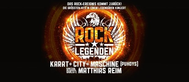Die Rock Legenden Karat, City und Maschine von den Puhdys live on tour